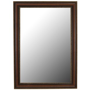 Best Price Polynesian Coco Brown Gold Trim Wall Mirror By Second Look Mirrors