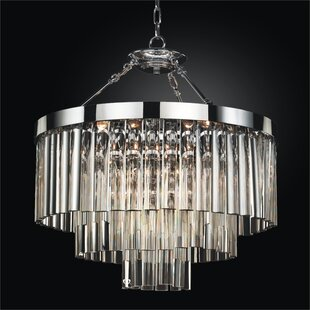 Wind Chime 6-Light Chandelier by Glow Lighting
