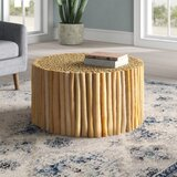 Enoch Solid Wood Drum Coffee Table by Joss & Main
