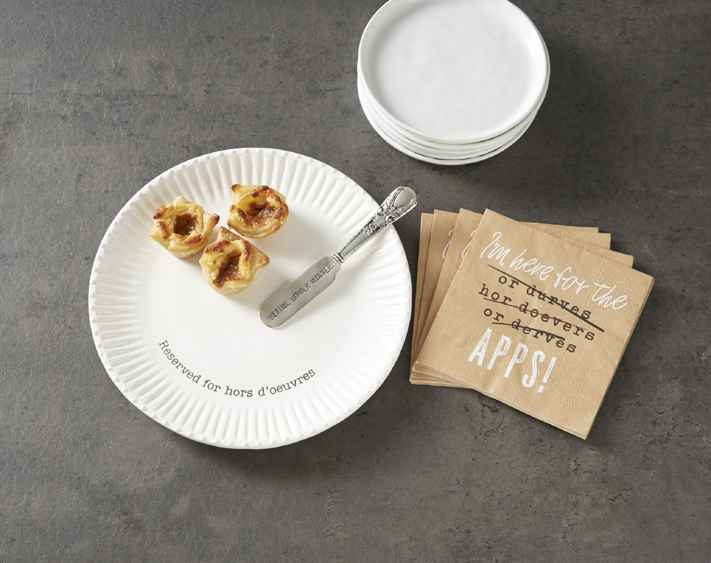 Mud Pie Circa Hors Doeuvre 3 Piece Platter Set Wayfair