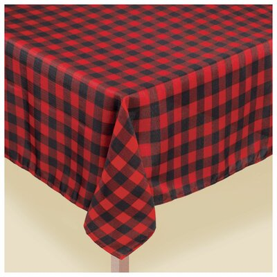 Amscan Christmas Buffalo Plaid 60 In. X 104 In. Fabric Table Cover