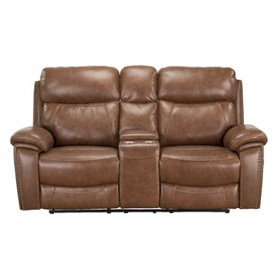 Yeager Genuine Leather Reclining by Loon ..