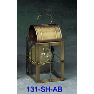 Inexpensive Xzavier 1-Light Outdoor Wall Lantern By Breakwater Bay