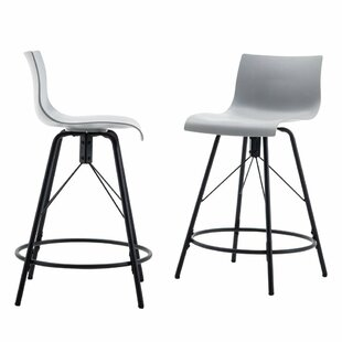 Bogdan Kitchen Counter 24 Swivel Bar Stool (Set of 4)