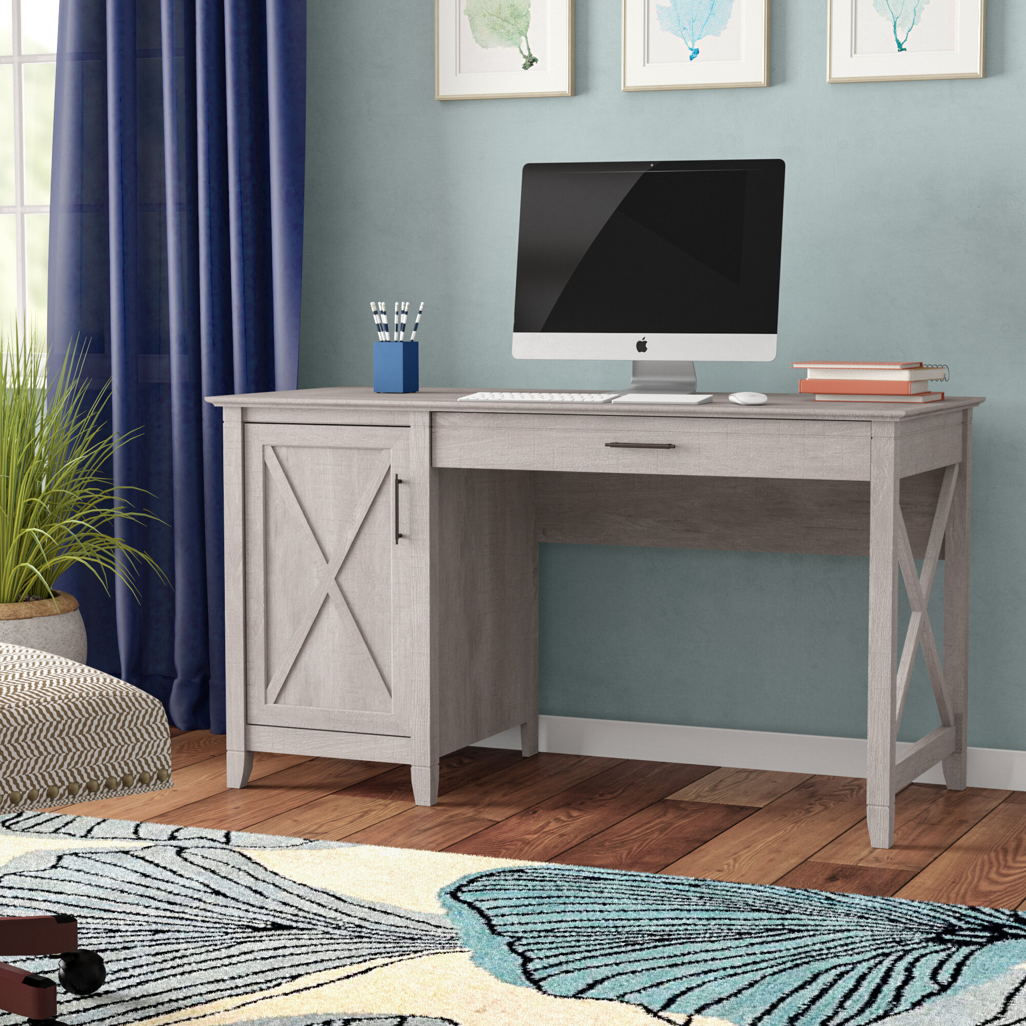Beachcrest Home Oridatown Single Pedestal Computer Desk U0026 Reviews | Wayfair