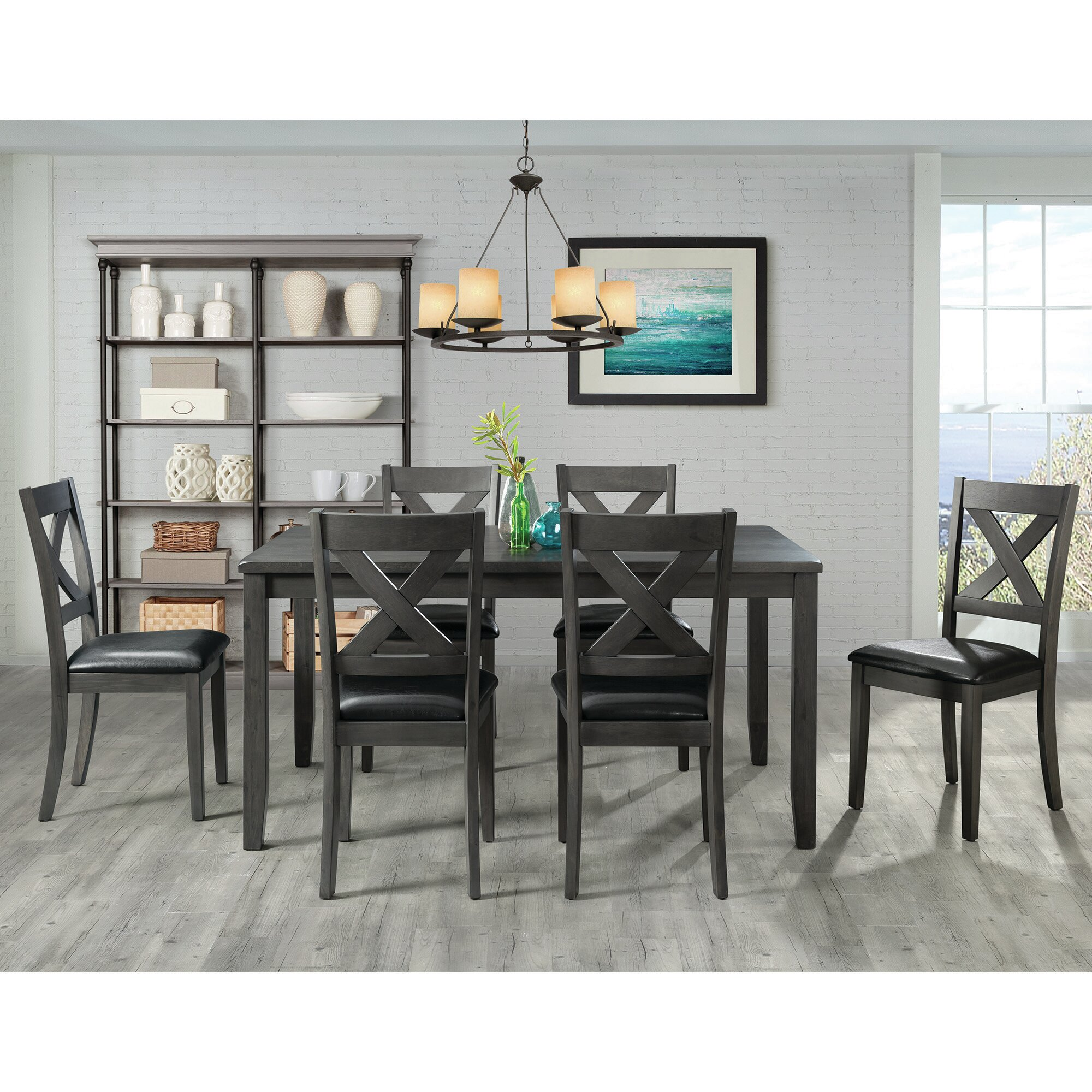 7 Piece Grey Kitchen & Dining Room Sets You'll Love in 2020 | Wayfair