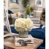 Hydrangea Bouquet in Decoupage Vassel