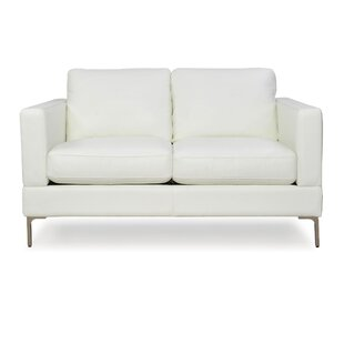 Kathrin Leather Loveseat by Orren Ellis Top Reviews