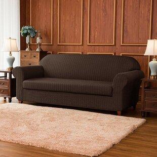 Jacquard Stretch Box Cushion Sofa Slipcover By Rosalind Wheeler