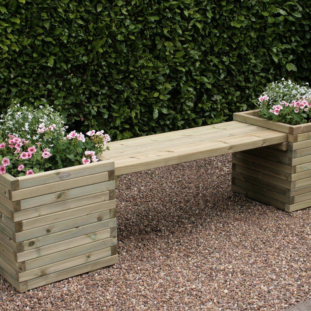 Alfrodull Wooden Planter Bench