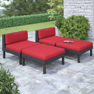 Zoar 4 Piece Patio Lounger Set