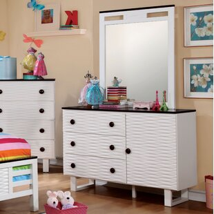 Nita 3 Drawer Combo Dresser with Mirror