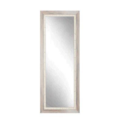 BrandtWorksLLC Weathered Full Length Wall Mirror Finish: Cream, Size: 55'' x 21.5'' x 1.5''