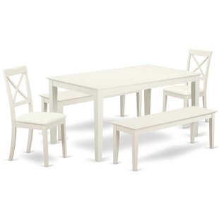 Smyrna 5 Piece Solid Wood Dining Set by C..