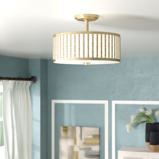 Perez 3-Light Semi Flush Mount..