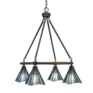 Pujari 4-Light Wagon Wheel Chandelier by ..