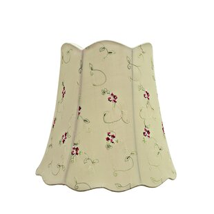 Price Check Transitional Scallop 16 Fabric Bell Floral Lamp Shade By Darby Home Co