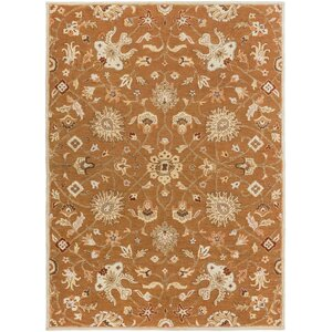Keefer Coffee Bean Floral Area Rug