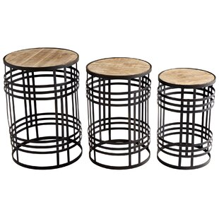 Banded About 3 Piece Nesting Tables by Cy..