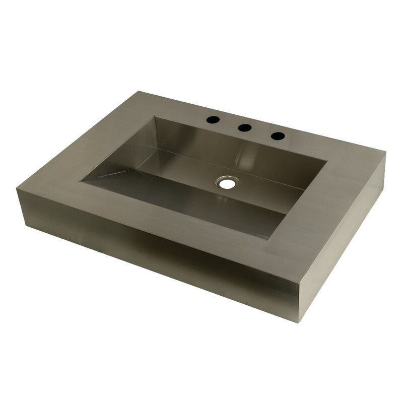 Genial Stainless Steel Rectangular Vessel Sink