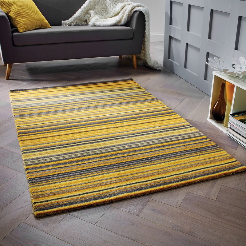 Yellow Kitchen Mats: Caracella Nassar Hand-Woven Wool Yellow Rug & Reviews
