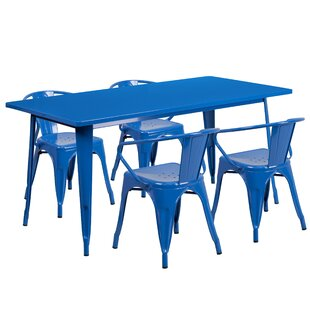 Lubron 5 Piece Dinning Set by 17 Stories