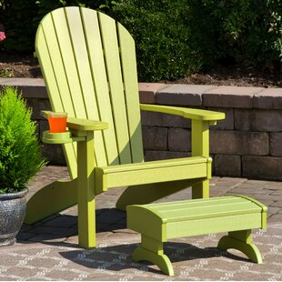 Deniela Polywood Adirondack Chair with Ottoman