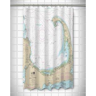 Best Ellisburg Cape Cod, MA Polyester Shower Curtain ByLongshore Tides