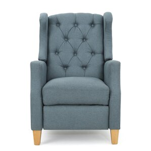 Cohen Tufted Manual Recliner  sc 1 st  Wayfair & Wing Chair Recliners Youu0027ll Love | Wayfair islam-shia.org
