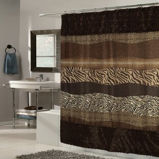 Exotic Mix Animal Fabric Shower Curtain