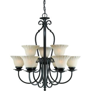 Winston Porter Wagaman 9-Light Shaded Chandelier