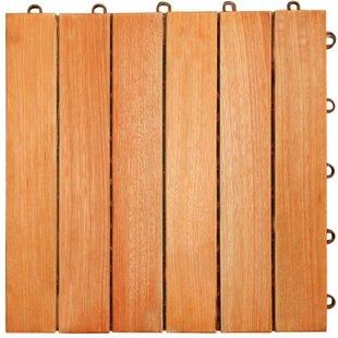 Cadsden 12 X Eucalyptus Interlocking Deck Tile In Natural