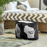 Green Bay Wisconsin Cube Ottoman by East Urban Home