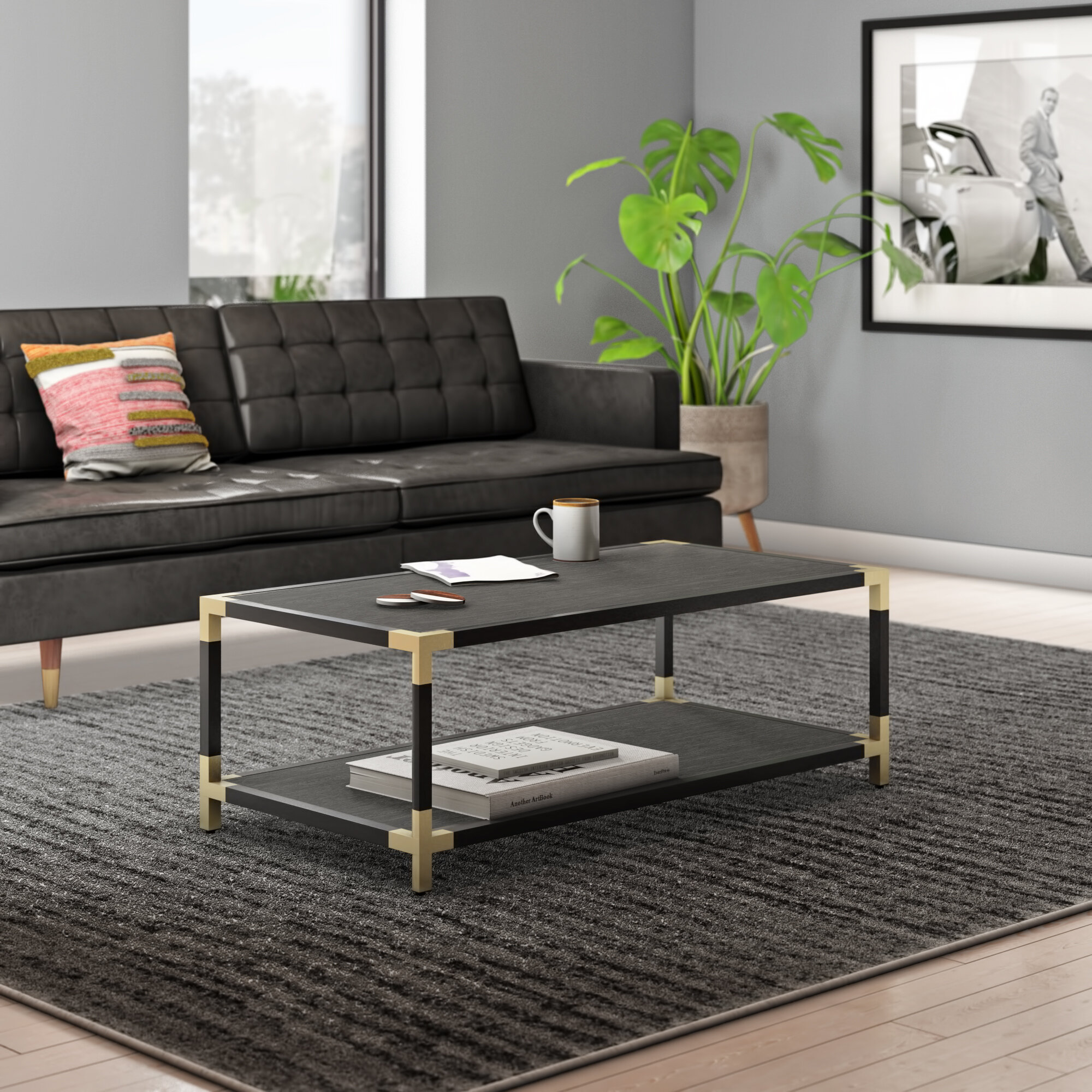 - Ellington Contemporary Coffee Table With Tray Top AllModern