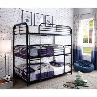 Achava Twin over Twin over Twin Bunk Bed