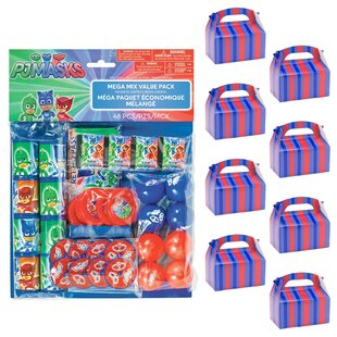 PJ Masks Filled Paper Disposable Party Favors Set (Set of 4)