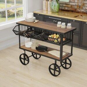 Odette Mango Wood Bar Cart by Trent Austi..