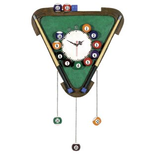 Cleaves Billiards Wall Clock By Winston Porter