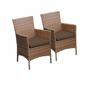 Laguna Patio Dining Chair With Cushion (Set Of 2) by TK Classics Great Reviews