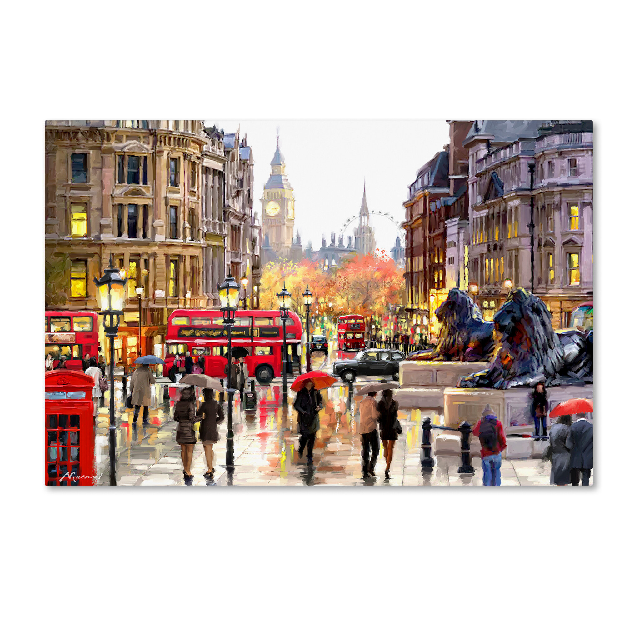 Trademark Art London Landscape By The Macneil Studio Print Reviews Wayfair