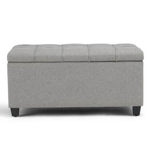 Simpli Home Sienna Upholstered Storage Bench