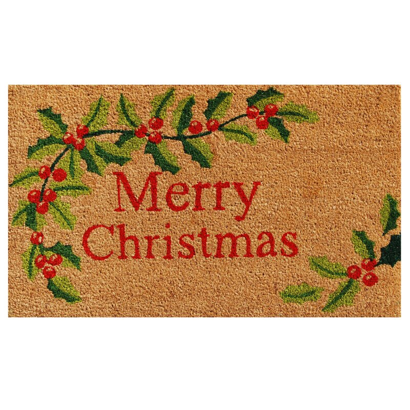 Merry Christmas Non Slip Outdoor Door Mat by Home & More