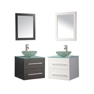Prado Modern 36 Single Sink Bathroom Vanity Set with Mirror by Orren Ellis