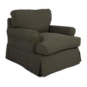Callie Slipcovered Armchair by August Grove