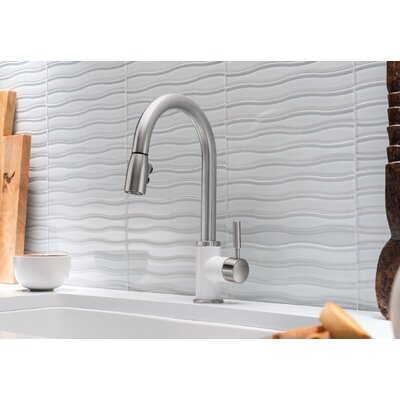 Sonoma Pull Down Single Handle Kitchen Faucet Blanco Finish