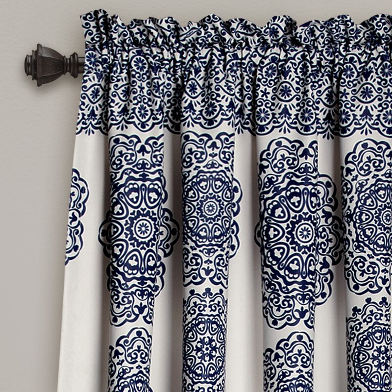 Nemeara Ikat Sheer Rod Pocket Curtain Panels