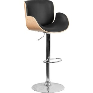 Greta Adjustable Height Swivel Bar Stool