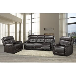 Price comparison Lounsbury 3 Piece Reclining Living Room Set by Red Barrel Studio Reviews (2019) & Buyer's Guide