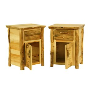 Best Reviews Rustic Arts™™ 1 Drawer Nightstand by Mountain Woods Furniture