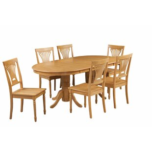 Devitt 7 Piece Extendable Solid Wood Dining Set August Grove